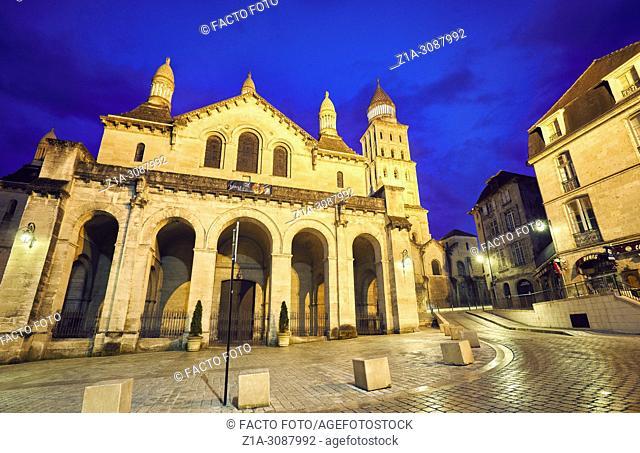 Saint Front cathedral, part of the World Heritage Sites of the Routes of Santiago de Compostela. Perigueux. Dordogne. Nouvelle-Aquitaine. France.