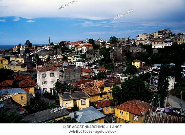 View of the city of Trabzon, Black Sea region, Turkey