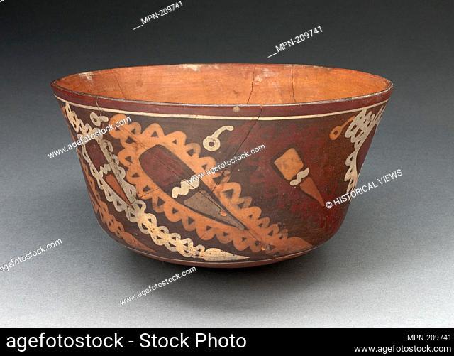 Miniature Flared Bowl Depicting Abstract Peppers with Decorative Motifs - 180 B.C./A.D. 500 - Nazca South coast, Peru - Artist: Nazca, Origin: Peru