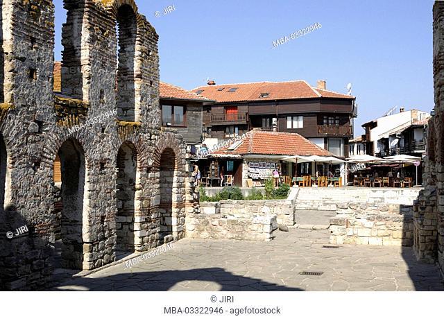 Nessebar, church of Holy Sophia, old metro polity church, 5.-6 cent., ruin, the Black Sea, Bulgaria, Europe