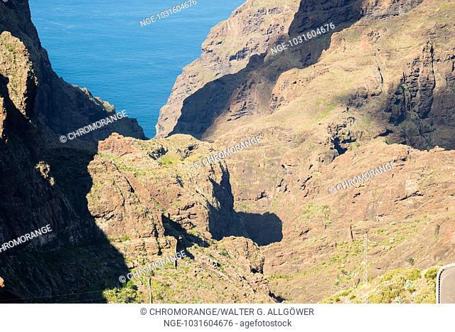 Masca-Schlucht, Barranco de Masca, Felsenformation, Vulkangestein, Teneriffa, Kanarische Inseln, Spanien, Europa