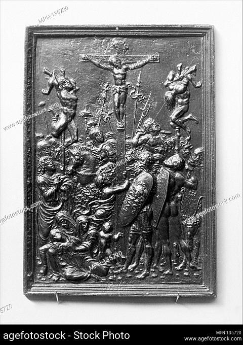 The Crucifixion. Artist: Moderno (Galeazzo Mondella) (Italian, Verona 1467-1528 Verona); Date: late 15th century; Culture: Italian