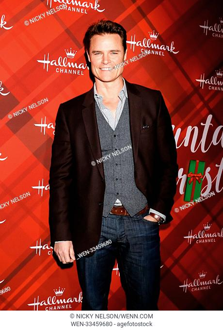 Hallmark's 'Christmas at Holly Lodge' screening at 189 The Grove Drive - Arrivals Featuring: Dylan Neal Where: Los Angeles, California