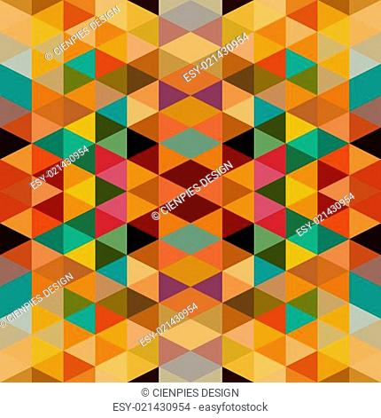 Retro triangles seamless pattern background. EPS10 file