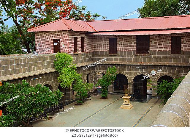 Interior, arches, porch, veranda and rooms at Vitthal Mandir, Vithalwadi wadi, Prati Pandharpur, Pune