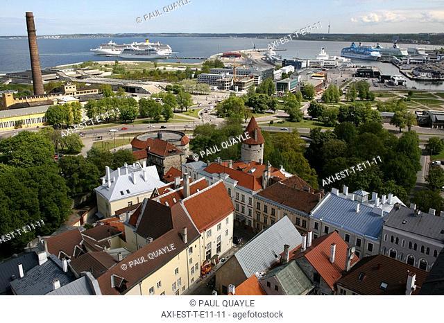 View from St Olav's Church tower, Tallinn, Estonia