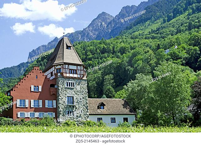 A winery at Vaduz, Liechtenstein
