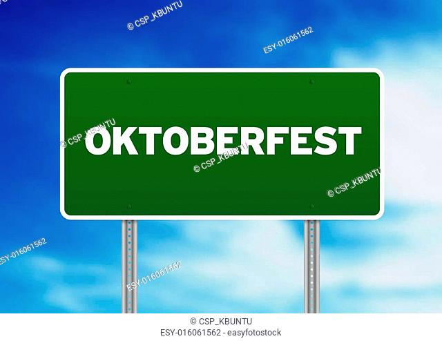 Oktoberfest Highway Sign