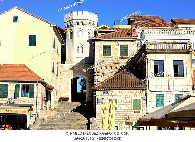 Entrance to Stari Grad from Nikole Durkovica square, Herceg Novi, Montenegro