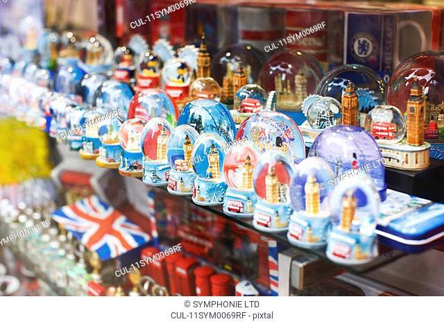souvenir shop window, London