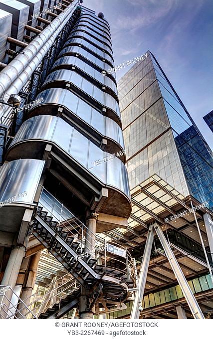 The Lloyd's Building and The Leadenhall Building, London, England