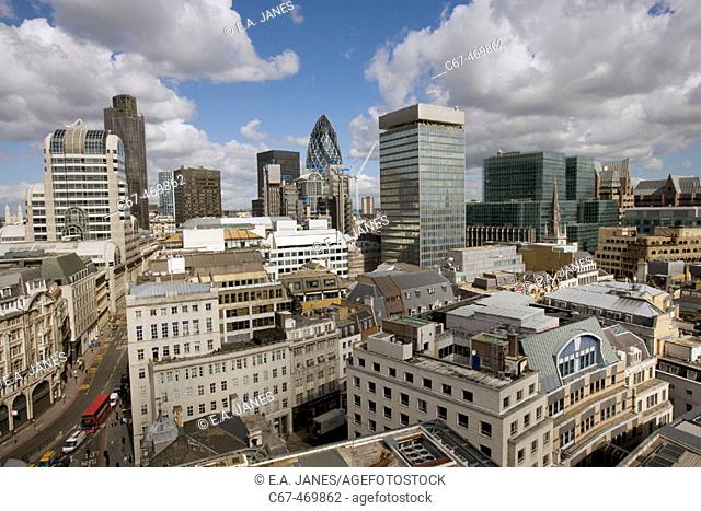 The City of London from the Monument. UK