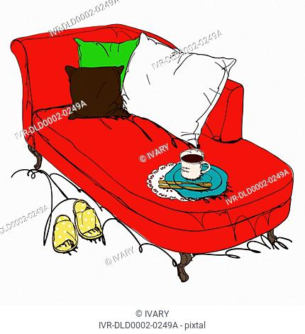 Couch With Coffee Mug