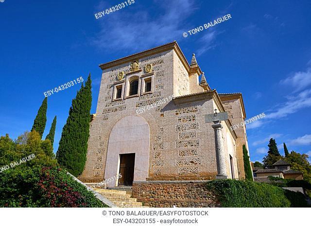 Santa Maria de Alhambra church in Granada of Spain at Andalusia