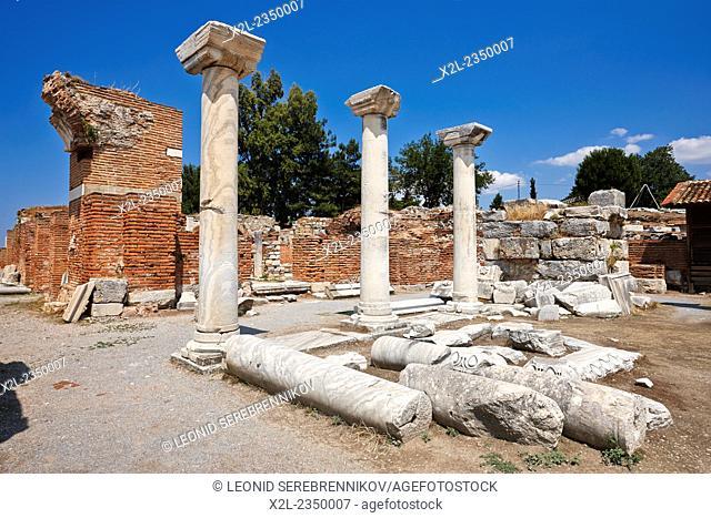Ruins of the Basilica of Saint John. Selcuk, Turkey