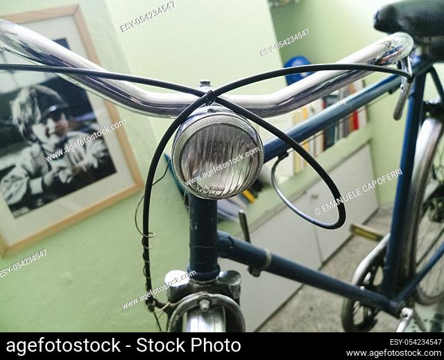 Old bicycle kept in the house