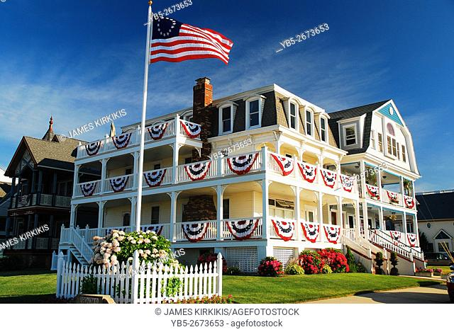 A Home Patriotically Decorated in Ocean Grove on the New Jersey Shore