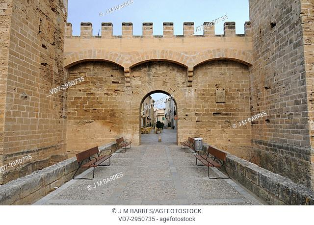 Alcudia, Majorca door. Majorca, Balearic Islands, Spain