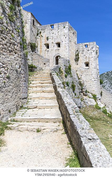 Klis Fortress, Splitsko-Dalmatinska, Dalmatia, Croatia, Europe