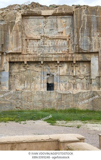 Artaxerxes II tomb, Persepolis, ceremonial capital of Achaemenid Empire, Fars Province, Iran