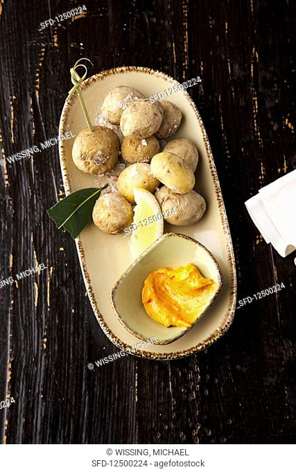 Canary potatoes with mojo (Spain)