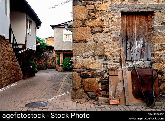 Pedestrian street of Petin, Orense, Spain