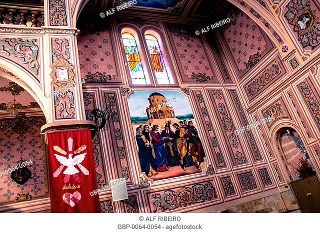 Interior, Church of St. Joseph, Divine Party, Salesópolis, São Paulo, Brazil