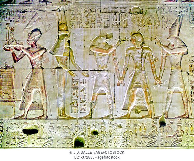 Abydos temple. Egypt