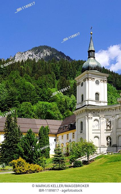 Detail of the Benedictine monastery, Ettal Abbey, district of Garmisch-Partenkirchen, Bavaria, Germany, Europe
