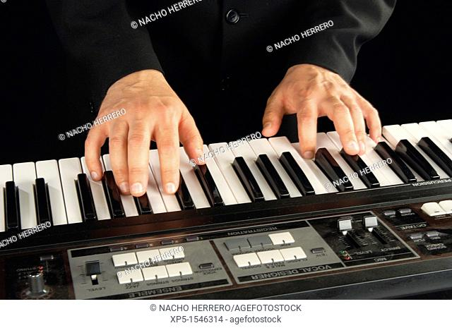 Pianist playing a song