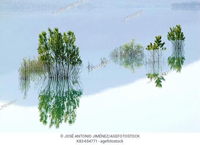 Grado reservoir. Huesca province, Aragon, Spain