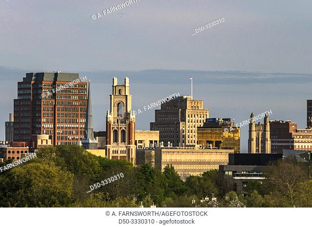 New Haven, Connecticut, USA The city skyline and Yale University