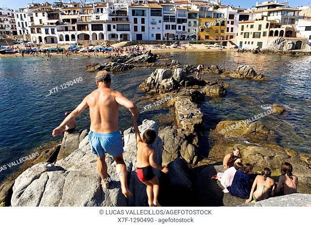 Calella de Palafrugell  In front of Port Bo  Costa Brava  Girona province  Catalonia  Spain