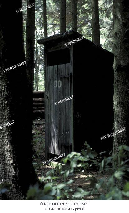 Wodden bathroom in a forest, Germany, Biberach
