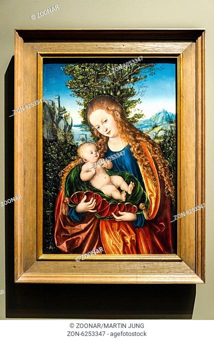 Mary with child, Lucas Cranach the Elder