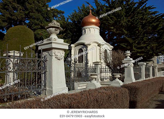 Historic cemetery of Punta Arenas in the Magallanes Region of southern Chile