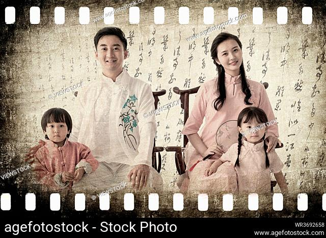 Wear Chinese style restoring ancient ways of the family