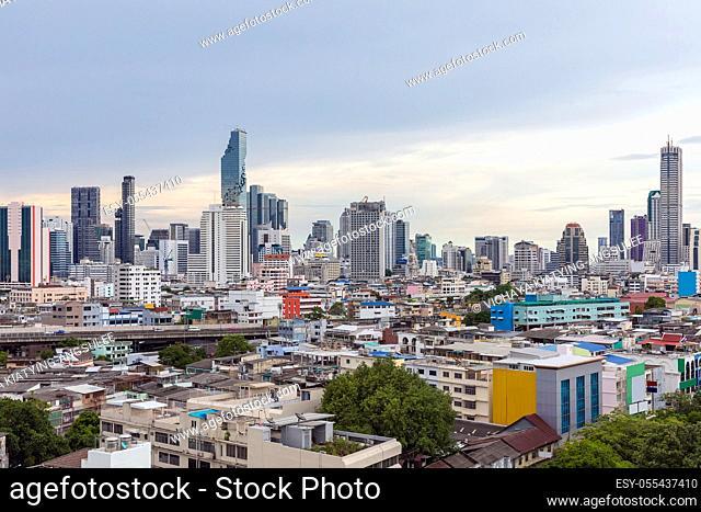 Bangkok Skyline cityscape sunset Thailand