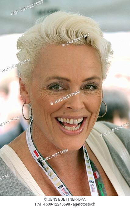 Danish former model and actress Brigitte Nielsen smiles to the camera in Monte Carlo, Monaco, 23 May 2008. Nielsen stressed 'I want to look like I was 30' and...