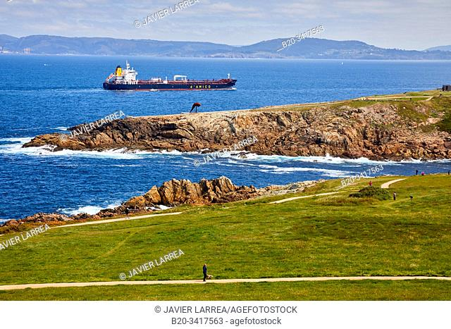 View from Tower of Hercules, A Coruña, Galicia, Spain