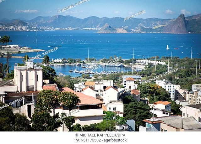 A view of Marina de Gloria, the venue for the Olympic sailing competition in Rio de Janeiro, Brazil, 8 August 2014. The 2016 summer olympics are going to be...