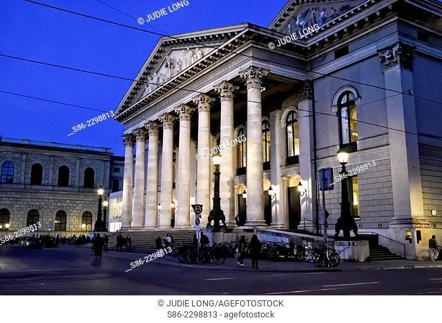 Munich, Germany, Opera House, Night View