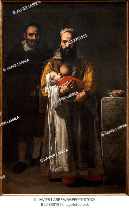 """The Bearded Woman (Magdalena Ventura with her husband and Son)"", 1631, José de Ribera (Jusepe de Ribera, Lo Spagnoletto), Prado Museum, Madrid, Spain, Europe"