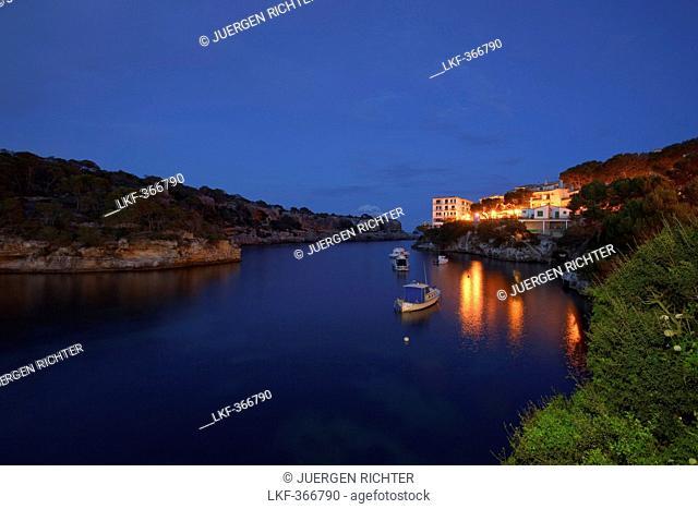 Cala Figuera, bay, near Santanyi, Mallorca, Balearic Islands, Spain, Europe