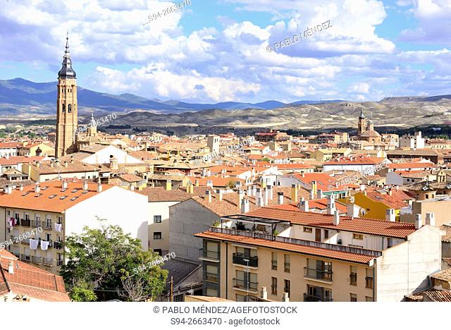 Overview of Calatayud, Zaragoza, Spain