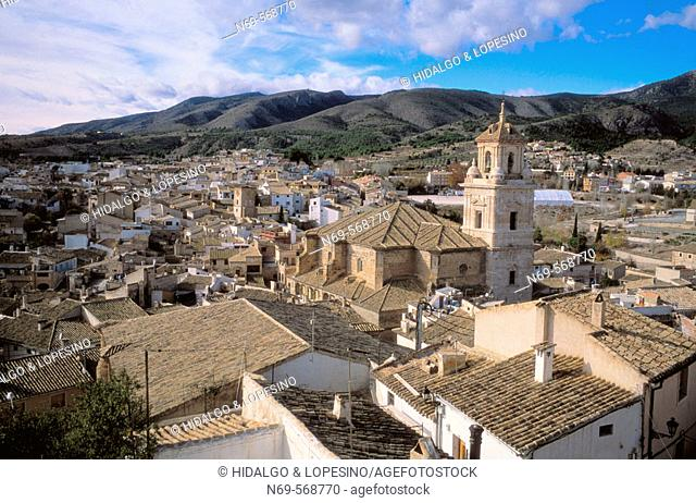 Caravaca de la Cruz. Medieval neighbourhood. Salvador church. Murcia province. Spain