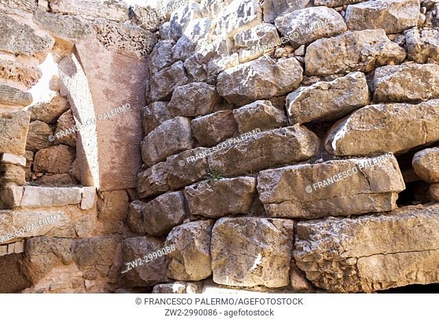 Ruins of the ancient Nuraghic civilization of Palmavera. Alghero, Sardinia. Italy