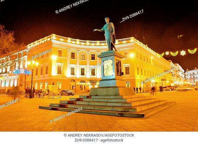 Monument Governor of Odessa - Duke of Richelieu (Armand Emmanuel Sophie Septimanie de Vignerot du Plessis), Odessa, Ukraine