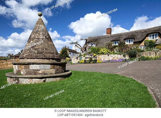 The Buttercross on the village green at Hallaton