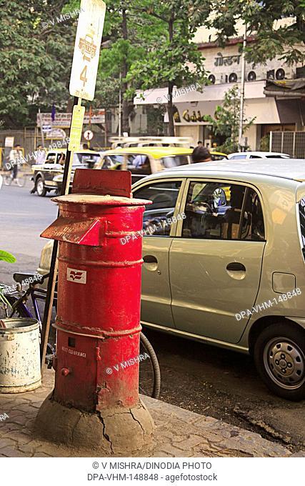 Letter box and parking board ; August kranti marg ; Grant Road ; Bombay Mumbai ; Maharashtra ; India